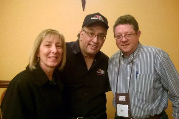 Dale & Tracey with Dave Anderson